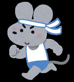 走るマウス