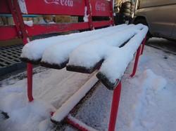雪 ベンチ
